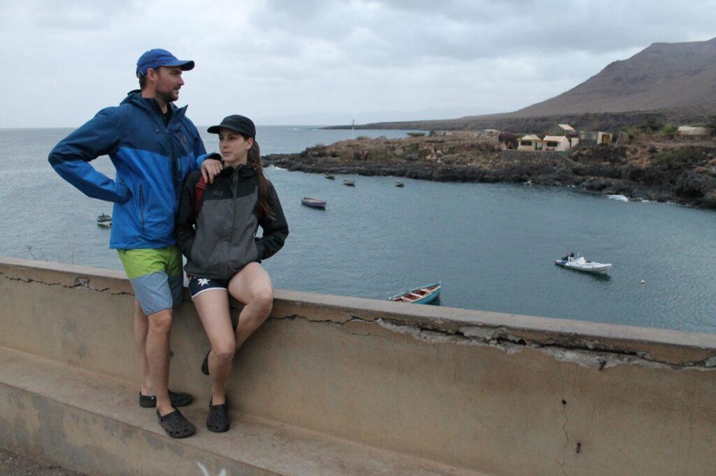 Carmen and Iñaki, exploring the island of São Nicolau in Cape Verde