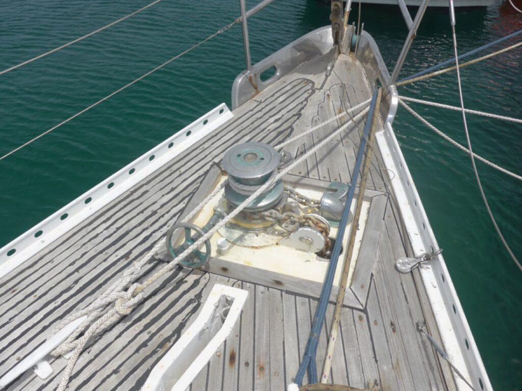Broken Teak Deck on Orcella