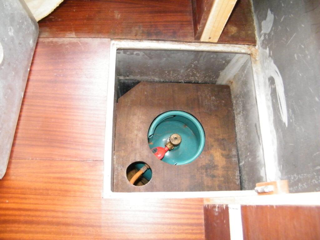 Pendant l'enquête marine, le système de gaz est également vérifié.