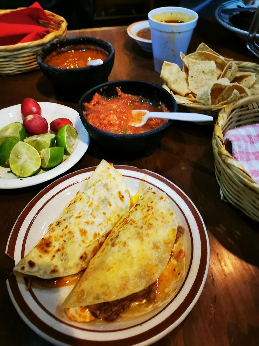 Quesadilla, a traditional Mexican dish