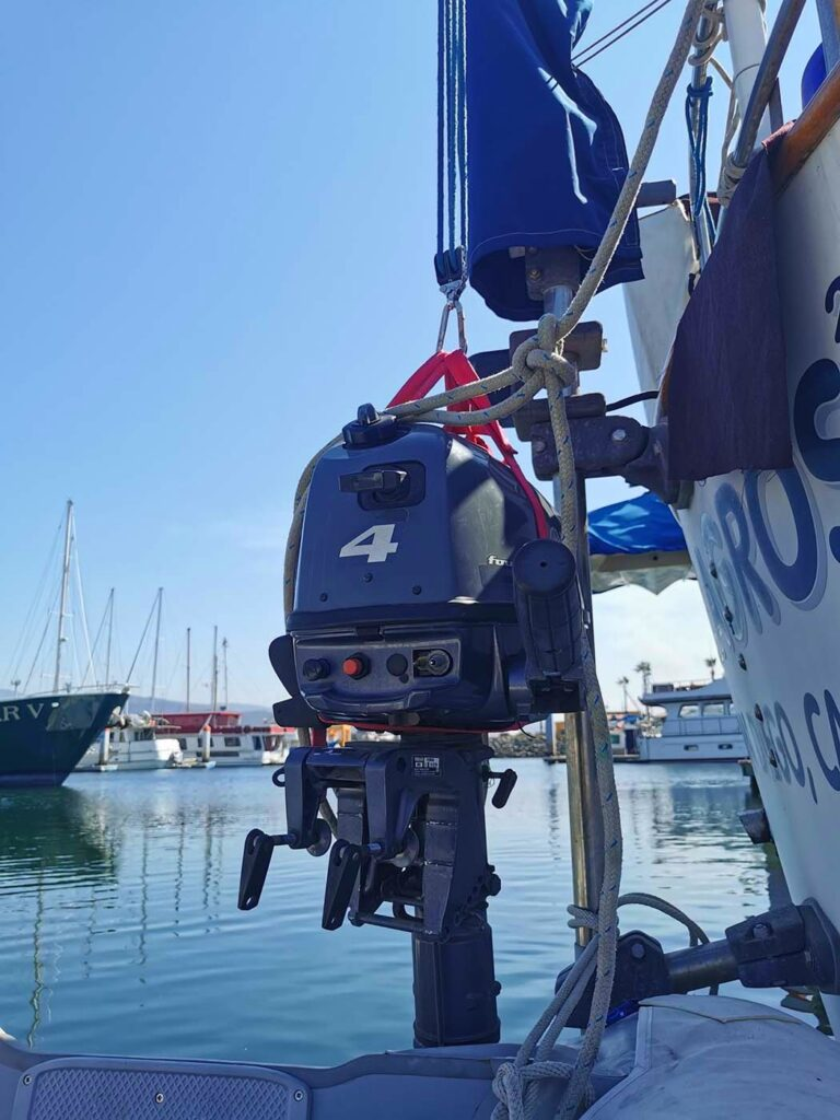 Hoisting the Outboard