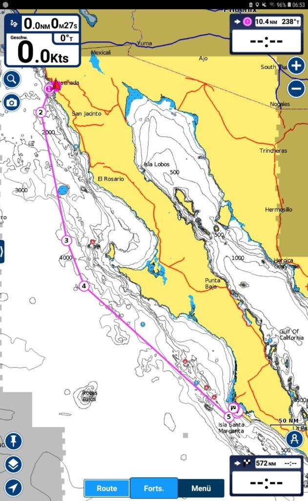 Passage Plan to Mag Bay