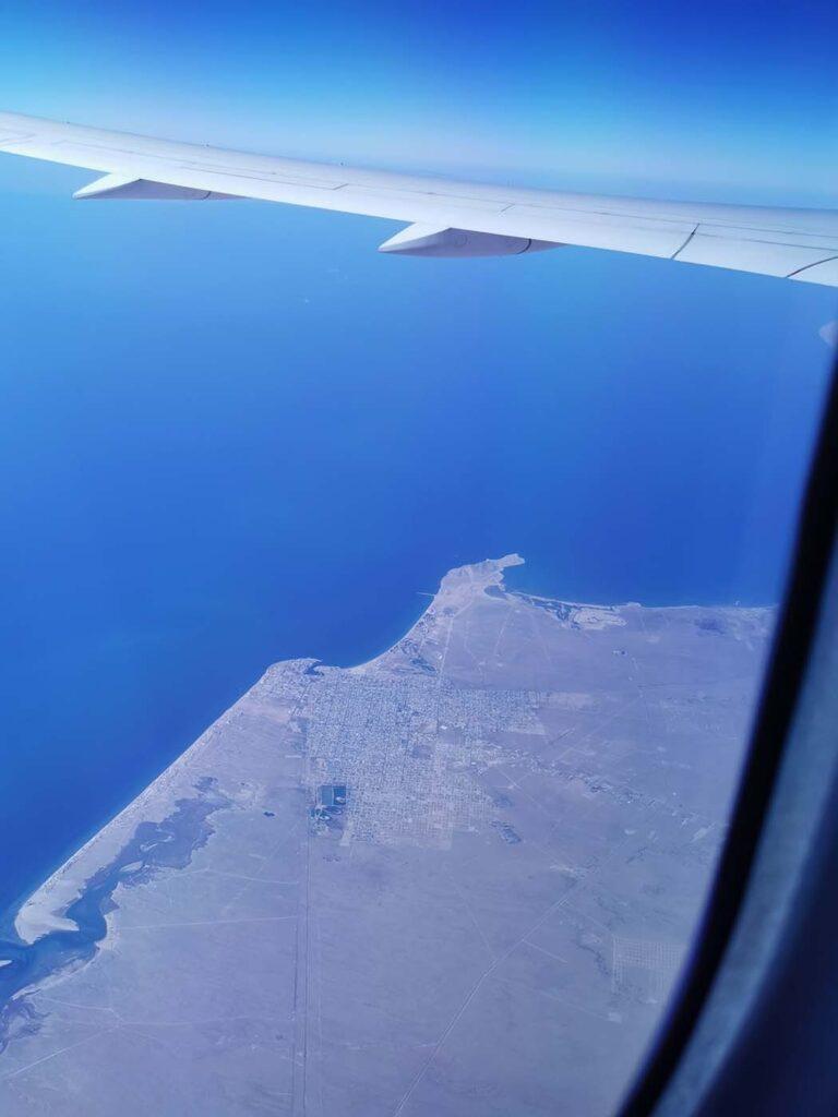 Puerto Peñasco airplane view