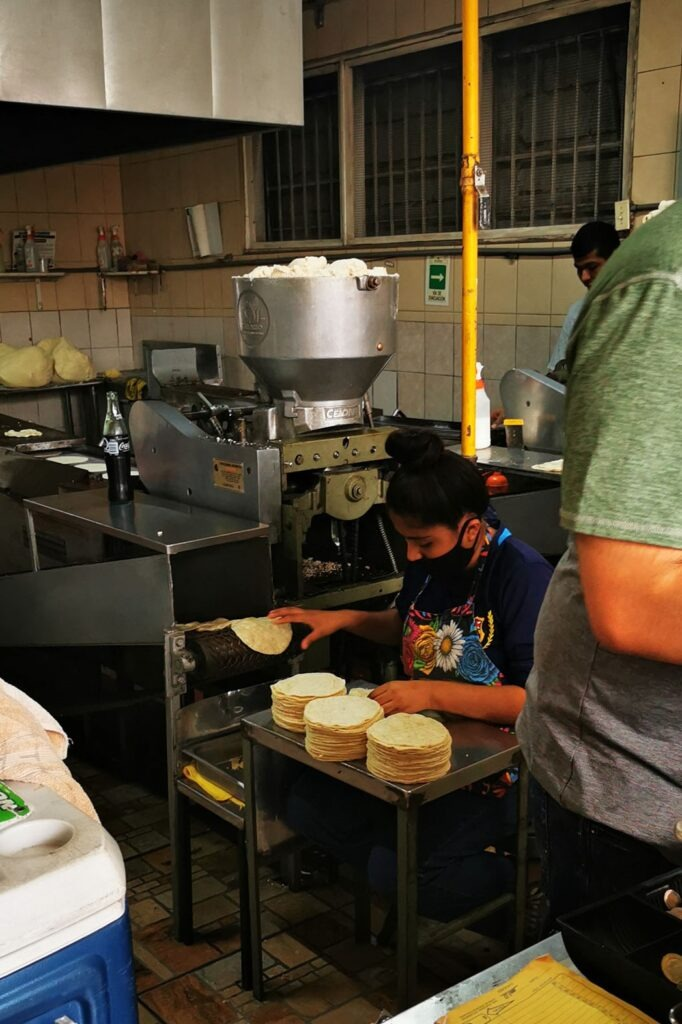 Production de tortillas