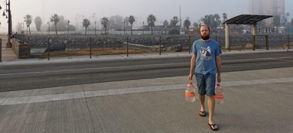 David in the marina of Ensenada