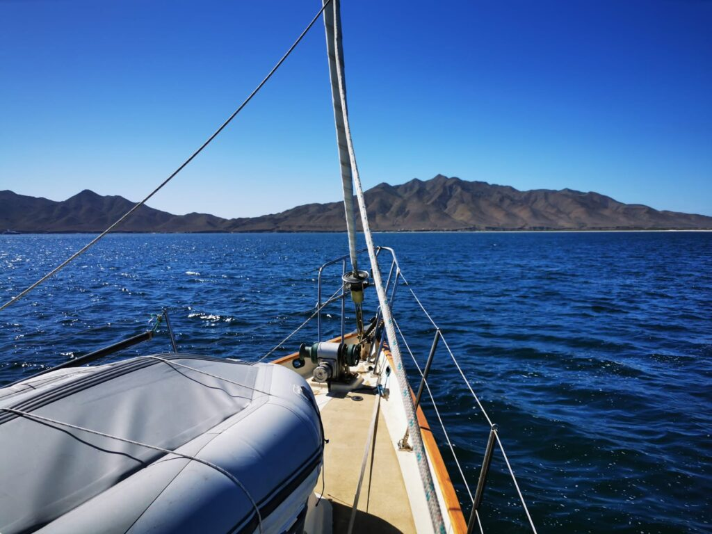 Anchoring next to Magdalena Bay