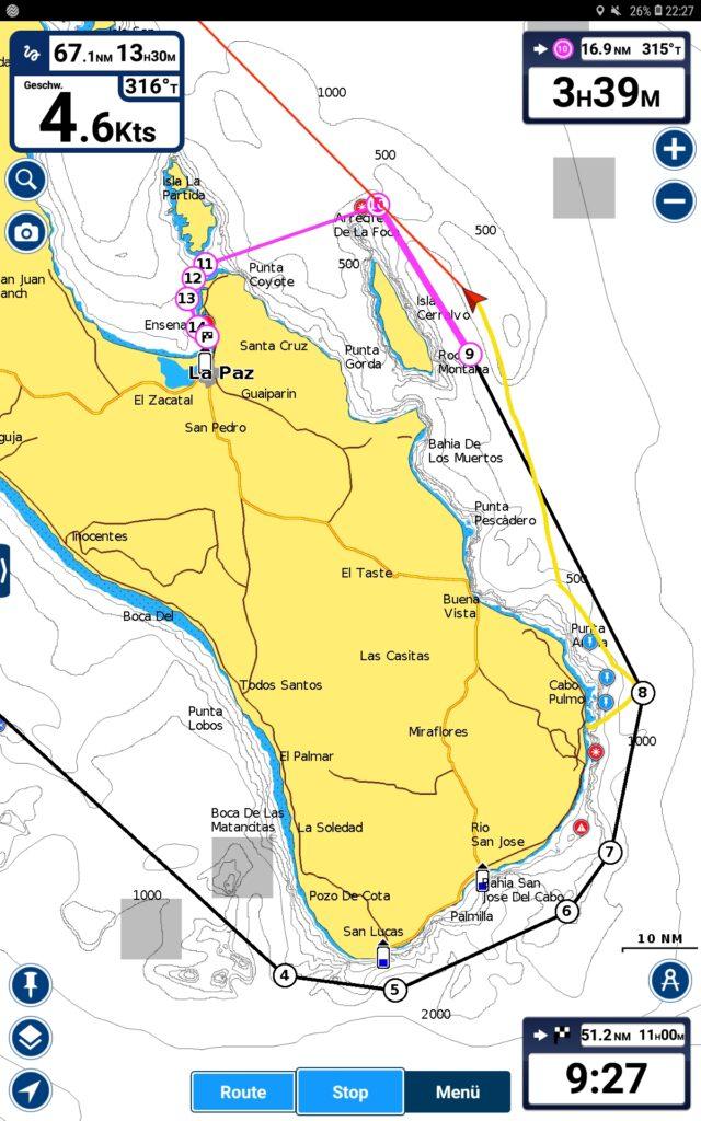 Passagenplan nach Los Frailes