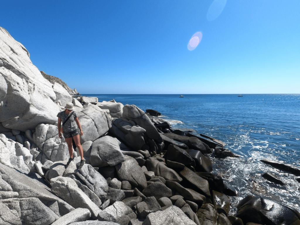 Carmen exploring Los Frailes Shore