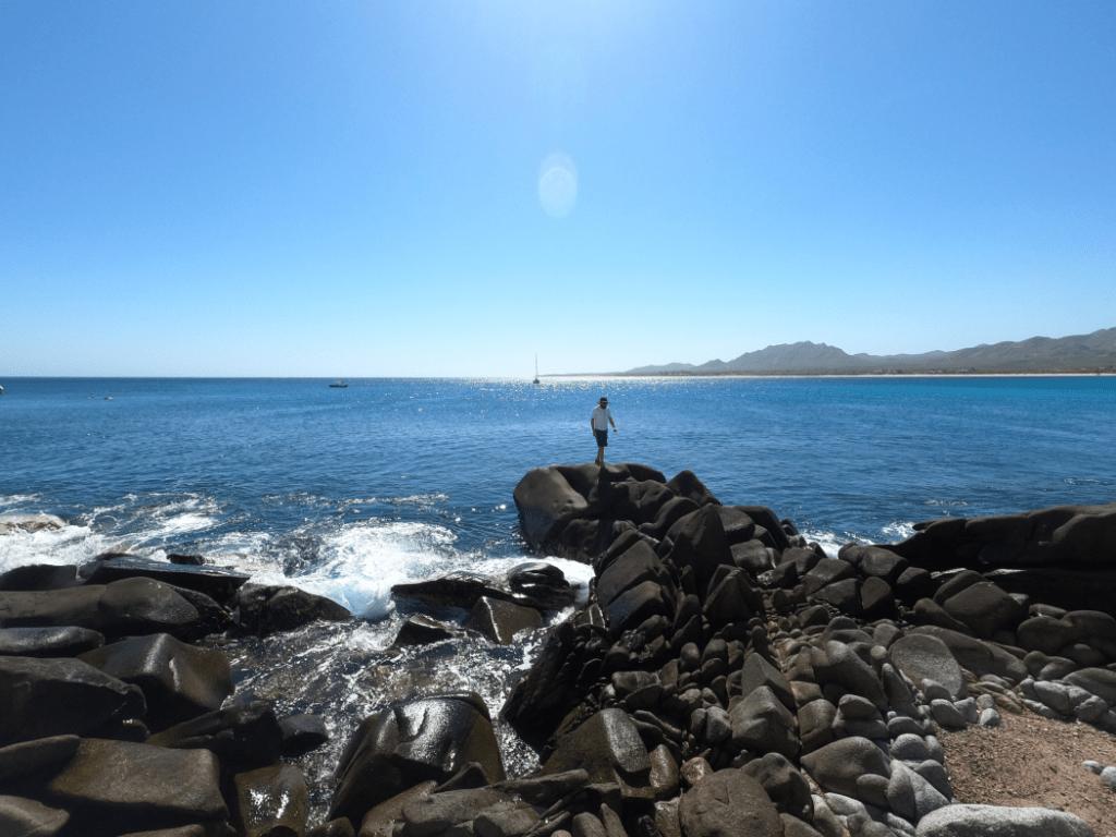 Dave  exploring Los Frailes Shore