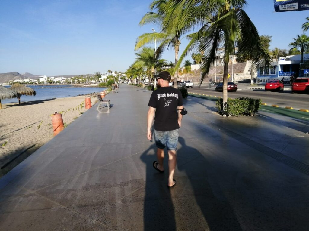 Dave exploring La Paz