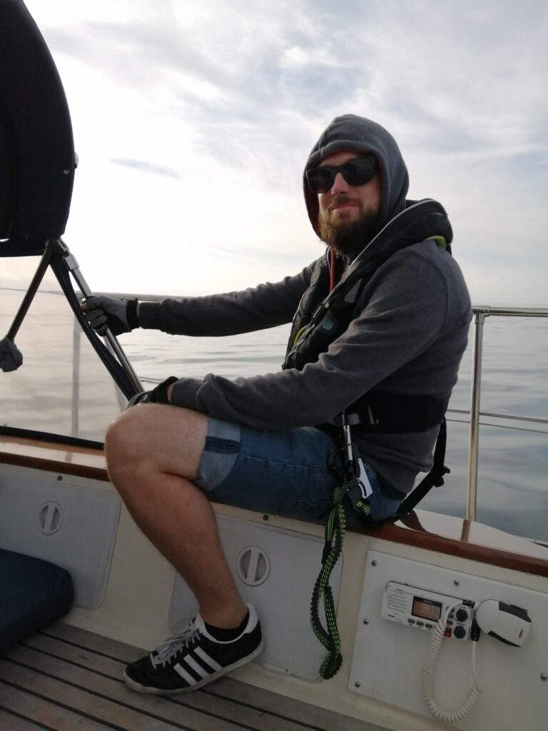 Dave enjoying the ride to Magdalena Bay