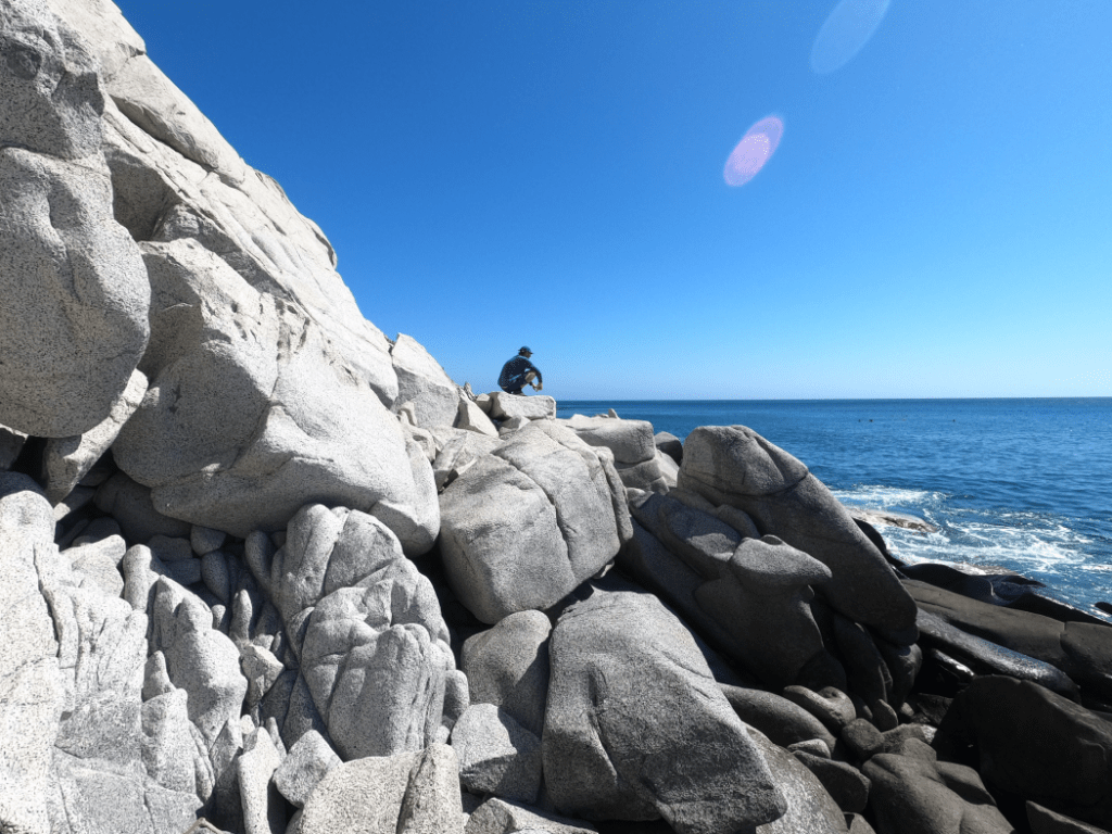 Inaki exploring Los Frailes Shore