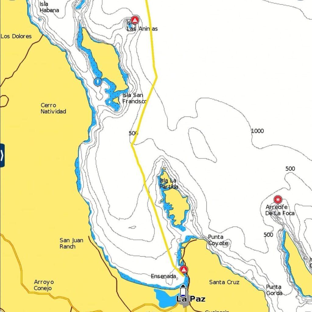 Passage Plan Exit La Paz