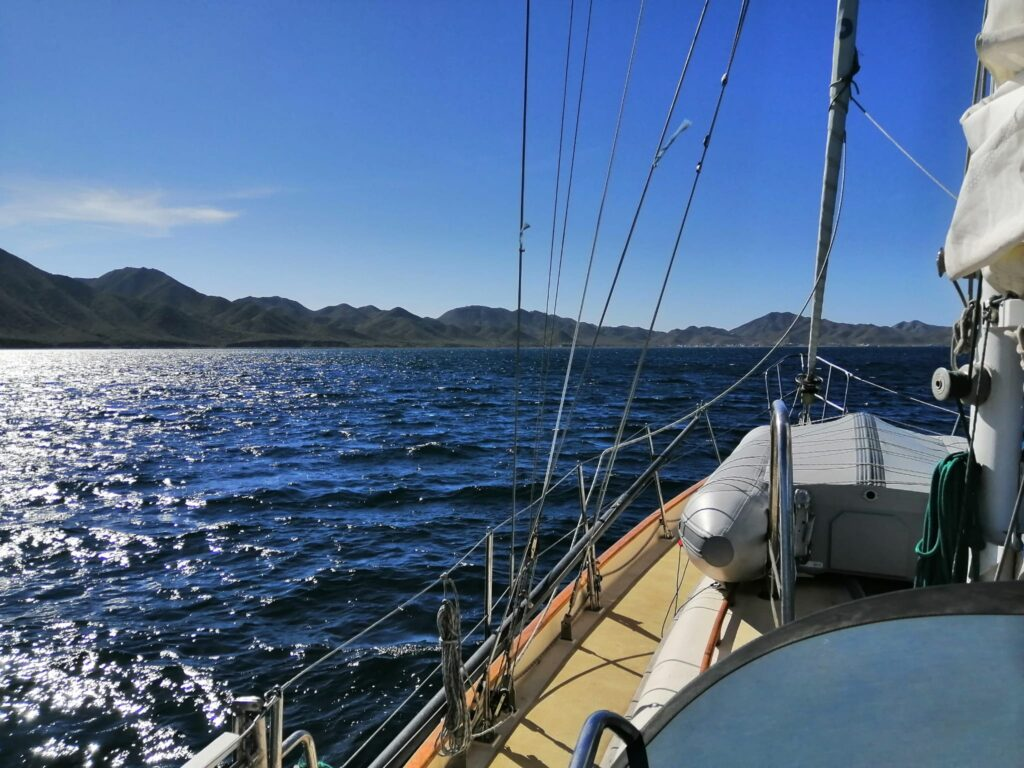 Sailing Milagros towards Magdalena Bay