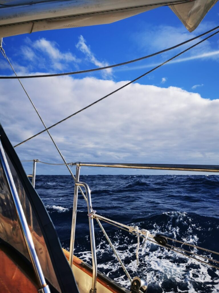 Sailing towards Magdalena Bay