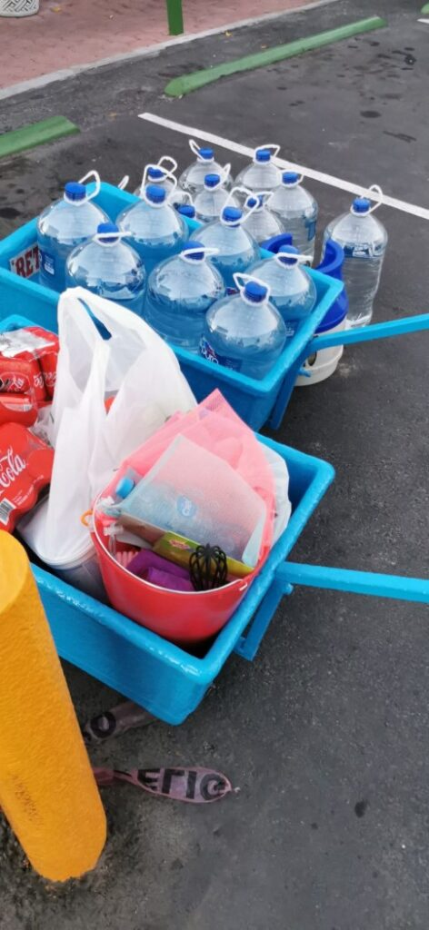Water supply and groceries