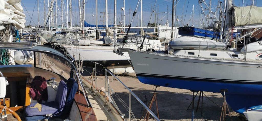 Nachbarboote auf der Astillero