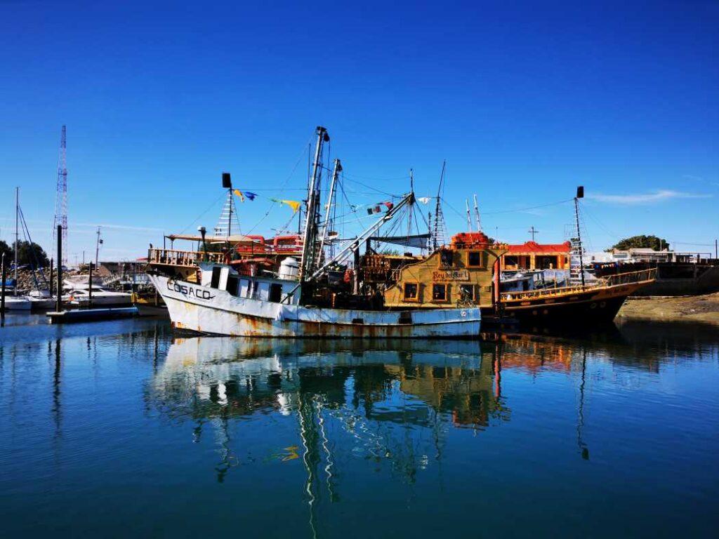 A shrimping boat in Puerto Peñasco
