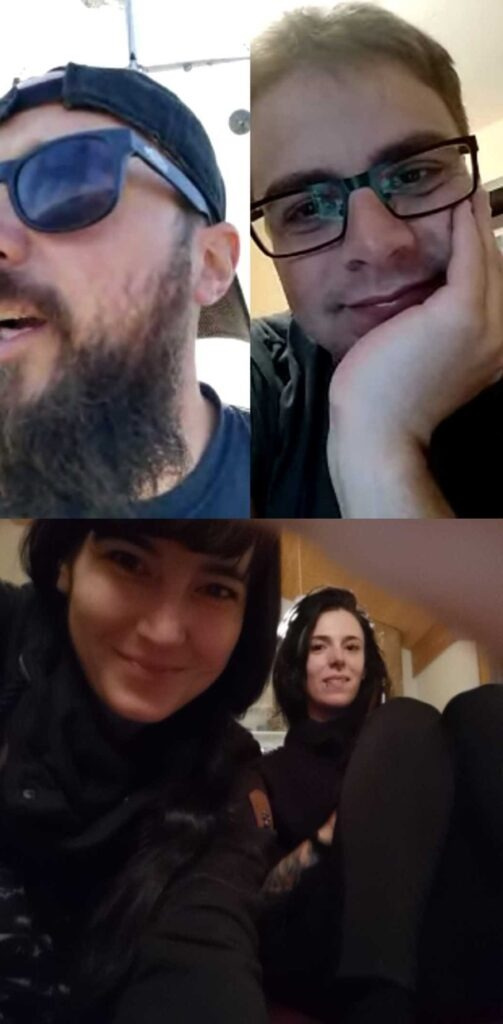 Video Call with our friends in Switzerland