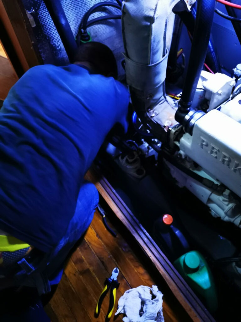 Dave is disassembling the coupling