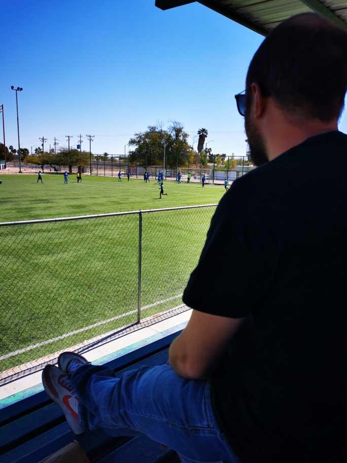 Fussballspiel schauen