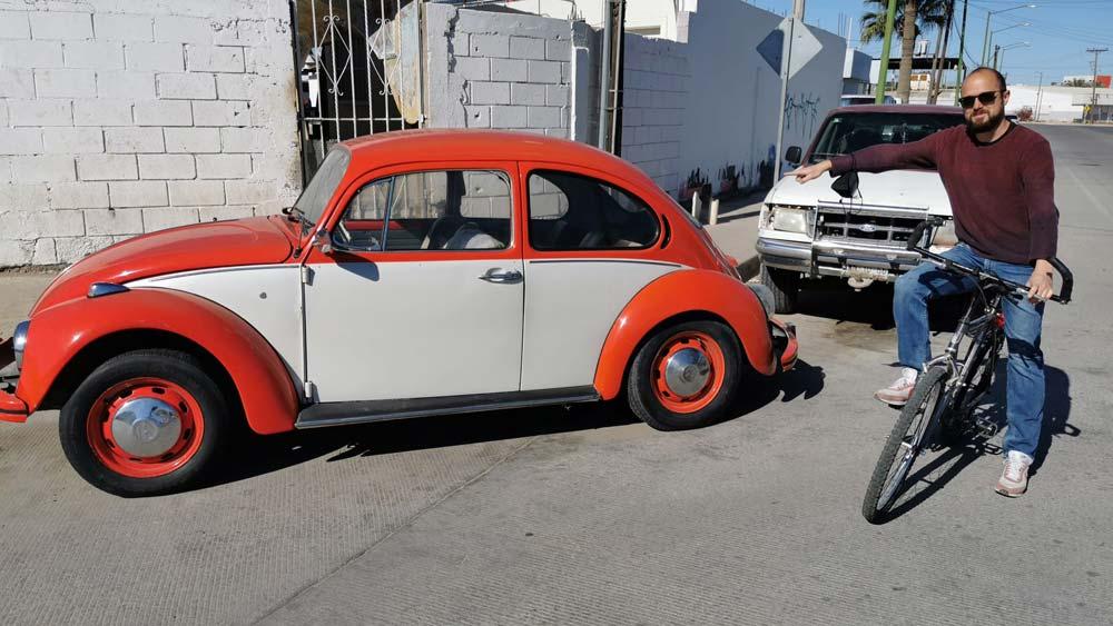 Ein alter VW Käfer in Rocky Point, Sonora, Mexiko