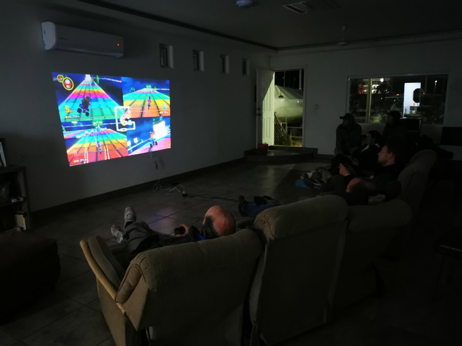Mario Kart Turnier auf der Rocky Point Boatyard