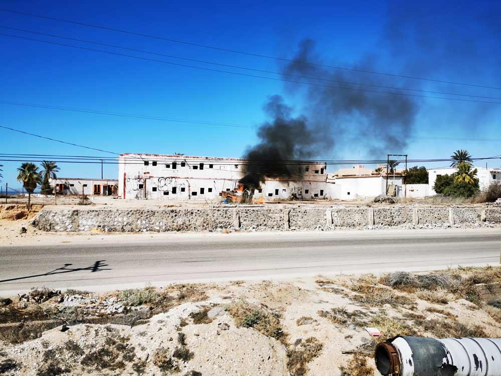 Incendie à Rocky Point, Puerto Peñasco, Sonora, Mexique