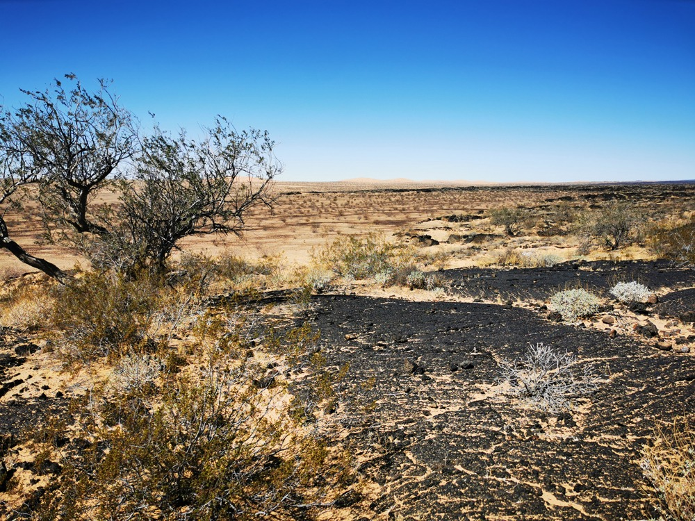 Une vue sur les dunes de sable de la réserve de biosphère El Pinacate et Gran Desierto de Altar