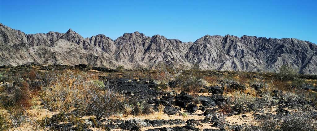 La Sierra de Pinacate, Schuk Toak, dans la réserve de biosphère El Pinacate et Gran Desierto de Altar près de Puerto Peñasco