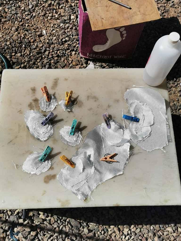 Fiberglass work preparation