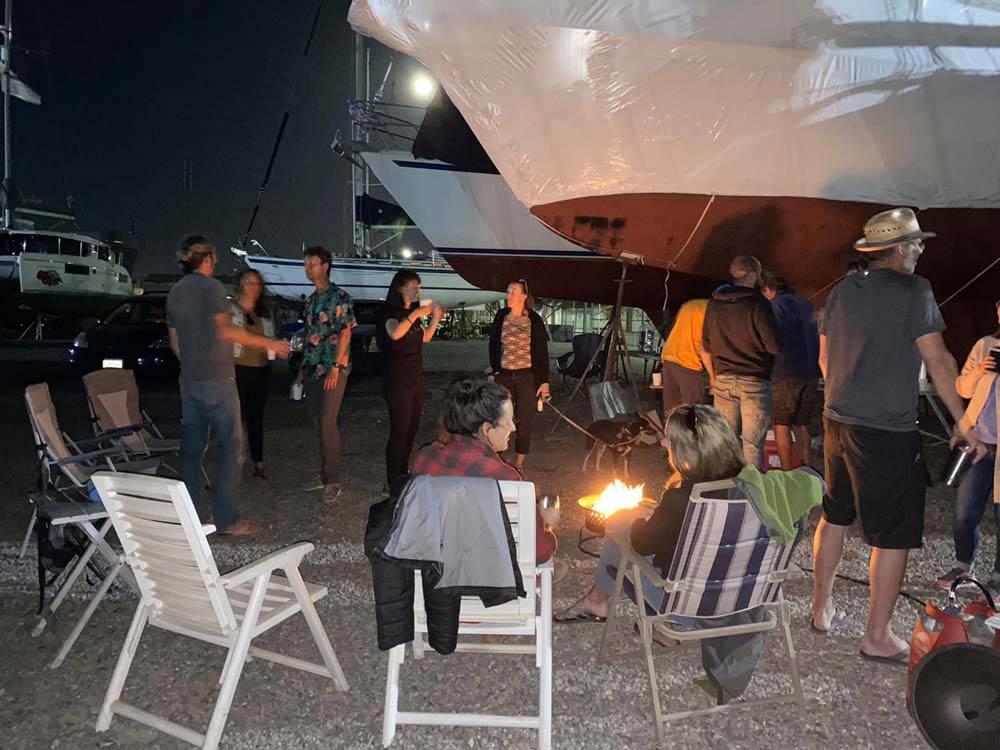 Fête d'anniversaire de la communauté des circumnavigateurs au chantier naval de Cabrales, Puerto Peñasco, Rocky Point