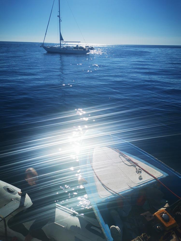 Rescue sailboat