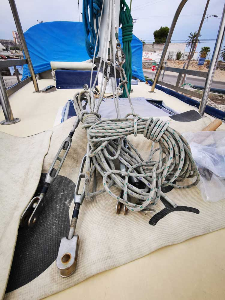 New rigging for a sailboat