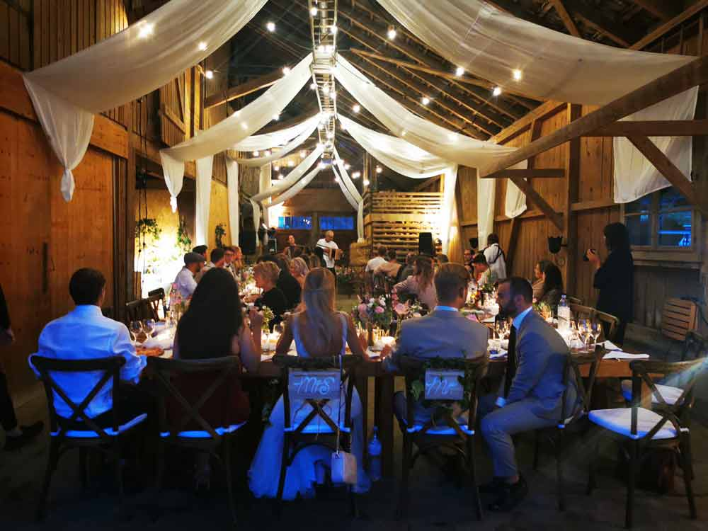 Barn Wedding in Switzerland
