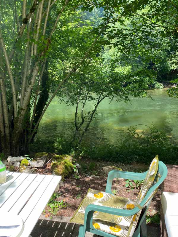 The Doubs river in Switzerland